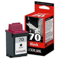Lexmark No. 70 Inkjet Cartridge Page Life 600pp Black Ref 12AX970E