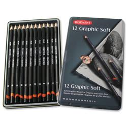 Derwent Graphic 9B to H Sketching Pencils Ref 34215 - Pack 12