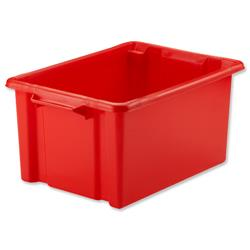 Strata Maxi Storemaster Crate 470x340x240mm Red Ref HW046