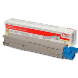 OKI 43459433 1.5K Yellow Microfine Laser Toner for C3450/C3600/C3300n/C3400n Ref 43459433