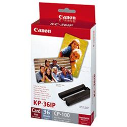 Canon CP100 Ink and Paper Photo Set 36 Sheets 102x152mm Colour Ref 7737A001AH
