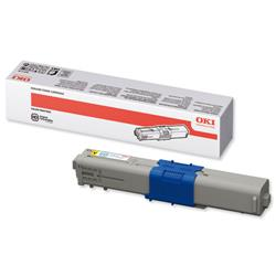 Oki 44469704 Yellow Toner Cartridge for C310dn/C330 Series Ref 44469704