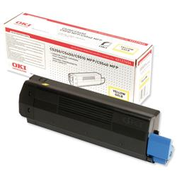 OKI Yellow Laser Toner Cartridge for C5250/5450/5510 Ref 42127454