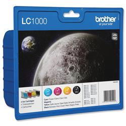 Brother Inkjet Value Pack Page Life 400/500pp Black/Cyan/Magenta/Yellow Ref LC1000VALBP [Pack 4]