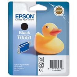 Epson T0551 Inkjet Cartridge Duck Black Ref C13T05514010