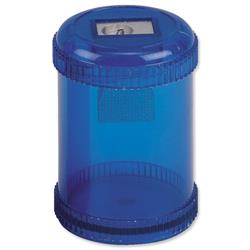 5 Star Office Pencil Sharpener Plastic Canister Max. Diameter 8mm Single Hole Coloured