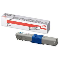 OKI Laser Toner Cartridge High Yield Page Life 5000pp Cyan Ref 44469724