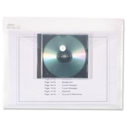 Snopake Electra PolyFile CD Wallet File Pocket A4 Clear Ref 13220 - Pack 5