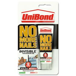 UniBond No More Nails Invisible 50ml Mini Tube Ref 1430132