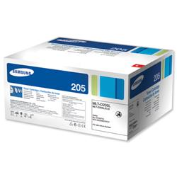 Samsung Laser Toner Cartridge and Drum Unit High Yield Page Life 5000pp Black Ref MLT-D205L/ELS