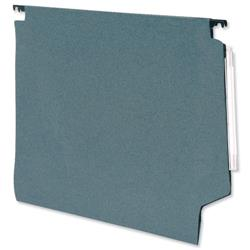 5 Star Office Lateral File Manilla with Clear Tabs and Inserts W330mm Green [Pack 50]