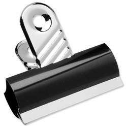 5 Star Office Grip Clips Metal Width 70mm Black [Pack 10]