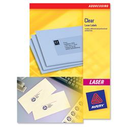 Avery L7552 Clear Laser Labels 55x12.7mm Ref L7552-25 - Pack 500