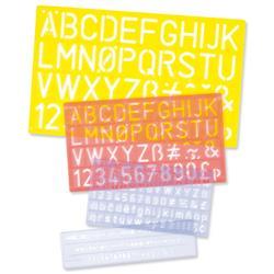 Lettering Stencil Set 5mm 10mm 20mm 30mm