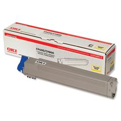 OKI Yellow Laser Toner Print Cartridge for C9600/C9800 Ref 42918913