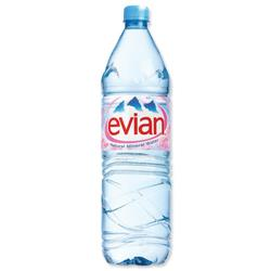 Evian Natural Mineral Water Bottle Plastic 1.5 Litre Ref 01110 - Pack 12