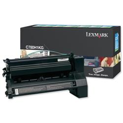 Lexmark Laser Toner Cartridge Return Program High Yield Page Life 10000pp Black Ref C780H1KG