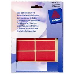 Avery 16-313 Labels in Wallets Red 25x50mm Ref 16-313 - Pack 324