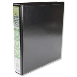 Elba Panorama Presentation Ring Binder PVC 2 D-Ring 25mm Capacity A5 Black Ref 400008672 [Pack 6]