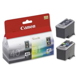 Canon PG-40/CL-41 Inkjet Cartridge Page Life 663pp Black/Colour Ref 0615B036 - Pack 2