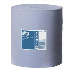Tork Centrefeed Paper Roll 1 Ply 210mm x 300m Blue - Pack 6
