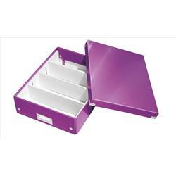 Leitz WOW Click and Store Organiser Box Medium Purple Ref 60580062