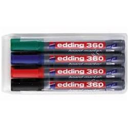 Edding 360/4S Whiteboard Marker Bullet Tip 1.5-3mm Line Assorted Ref 4-360-4 [Pack 4]