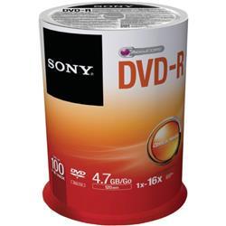 SONY 100PK DVD-R 4.7GB 16x SP Ref 100DMR47SP