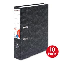 Euroffice Lever Arch File 70mm Foolscap Cloudy Grey [Pack 10]