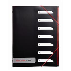 Black n Red by Elba 7 Part Sorter with Tabs Polypropylene Ref 400051534