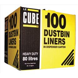Robinson Young Le Cube Refuse Sacks 80 litres 860 x 1470 mm Ref RY00483 (Pack 100)