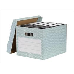 Image of Bankers Box by Fellowes Storage Box Stackable [Pack 4] - 4481301