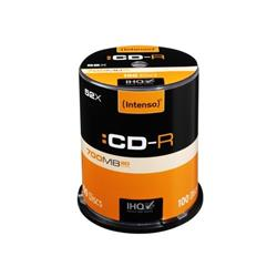 Intenso x100 CD-R 700MB 52x Cake Box Ref 1001126