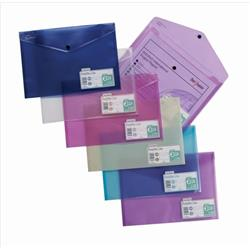 Snopake Polyfile Lite Wallet File Polypropylene Durable A4 Assorted Ref 15411 [Pack 5]