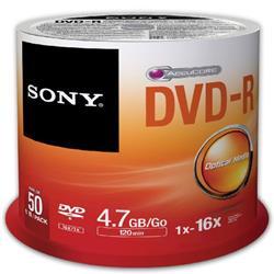 SONY 50PK DVD-R 4.7GB 16x SP Ref 50DMR47SP