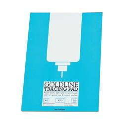Goldline Popular Tracing Pad 63gsm 50 Sheets A4 Ref GPT2A4Z [Pack 5]