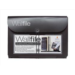 Wall File Polypropylene 7 Pocket A4 Black Ref EXPWALBK