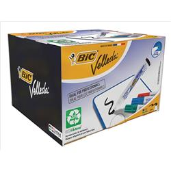 Bic Velleda 1751 Whiteboard Marker Chisel Tip Line Width 3.7-5.5mm Assorted Ref 927261 [Pack 48]