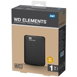 WD Portable 1TB USB 3.0 5400RPM Ext HDD Ref WDBUZG0010BBK-EESN