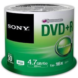 SONY 50PK DVD+R 4.7GB 16x SP Ref 50DPR47SP