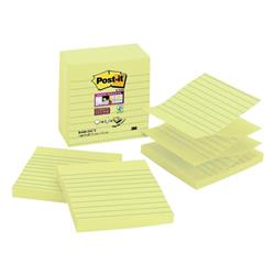 Post-it Z-notes Lined 101x101mm Yellow Ref R440-SSCY-EU (Pack 5)