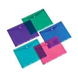5 Star Office Punched Filing Pockets Assorted [Pack 5]