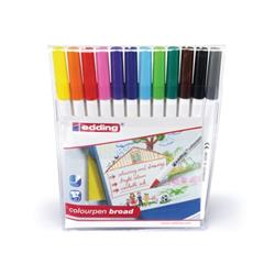 Edding Colouring Pens Broad Washable Assorted Ref 1417999 (Pack 12)