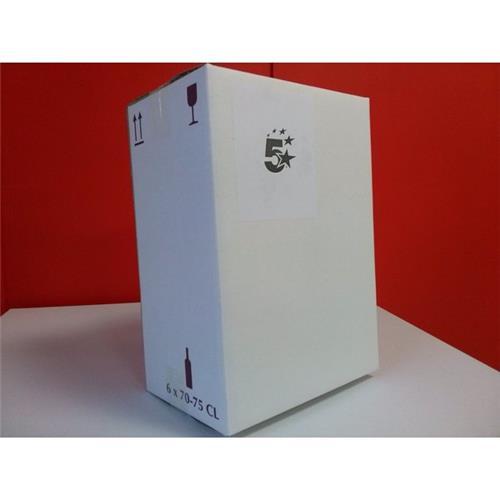 Foto Imballi per bottiglie 5Star-6 bottiglie-24x15,7x32cm-25x16,5x33cm-15pz Scatole imballo