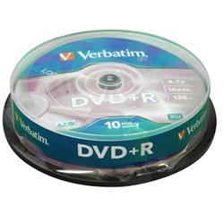 Verbatim DVD+R Spindle Ref 43498 (Pack 10)