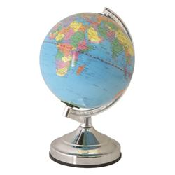 World Globe Desk Lamp E14 15W Touch-activated Controls 13in