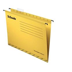 Esselte Classic Suspension File Reinforced Foolscap File Yellow Ref 90335 (Pack 25)