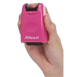 Rexel ID Guard Roller Pink with Black Ink Ref 2112007