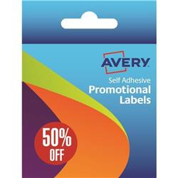 Avery Label Dispenser Pre-printed with 50% Off Labels Ref 50-126 (500 Labels)