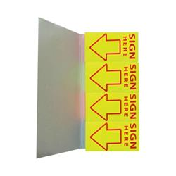5 Star Office Index Flag Sign Here Yellow [Pack 5]